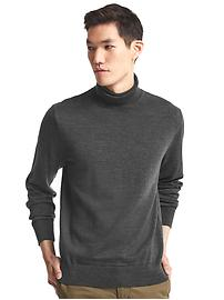 Merino wool turtlenck sweater