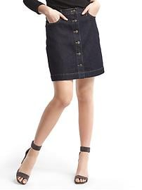 1969 stretch denim mini skirt