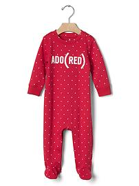 babyGap x (RED) footed one-piece