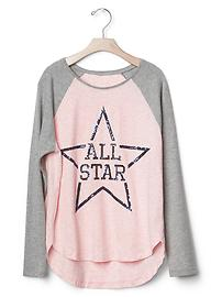 All star baseball tee