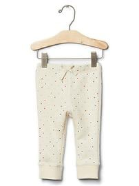 Rainbow dot bow pants