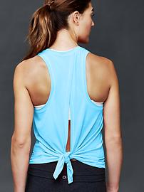 GapFit Breathe tie-back tank