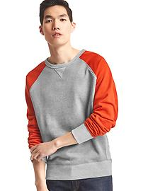 Colorblock baseball sweatshirt