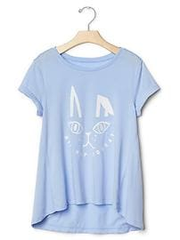 Glitter graphic swing tee