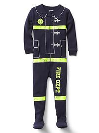 Halloween fireman footed sleep one-piece