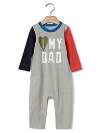 Family love colorblock one-piece