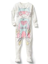 Halloween superhero footed sleep one-piece