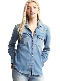 1969 denim western shirt