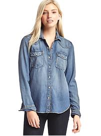 1969 relaxed western denim shirt