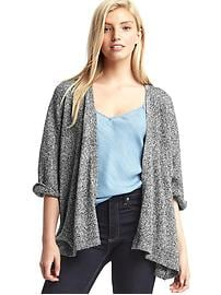 Roll sleeve cardigan