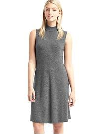 Mockneck sleeveless sweater dress