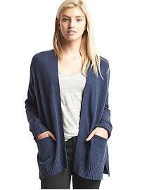 Wool open-front cardigan