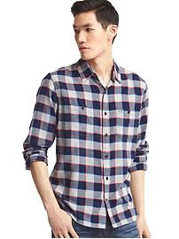 Flannel gingham shirt