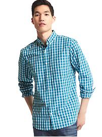 True wash border checkered standard fit shirt
