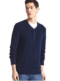Softspun knit henley