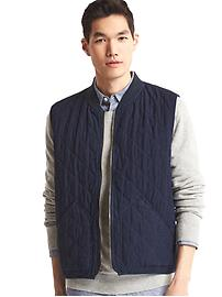 1969 quilted denim vest