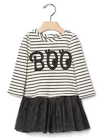 Boo stripe tutu dress