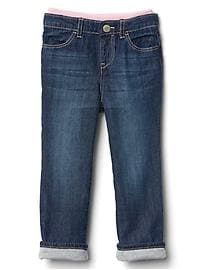 1969 lined straight jeans