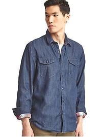 Gap + Pendleton 1969 denim western shirt
