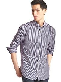 True wash shadow bengal stripe standard fit shirt