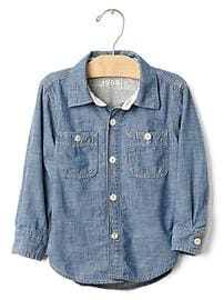 1969 jersey-lined chambray shirt
