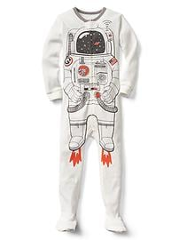 Halloween astronaut footed sleep one-piece