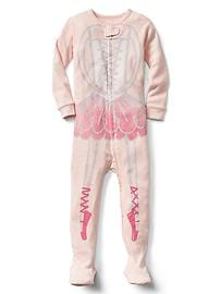 Halloween ballet footed sleep one-piece