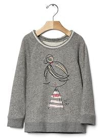 Hair bun sweatshirt tunic