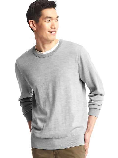 Merino wool crew sweater