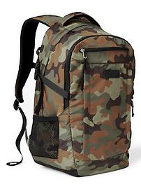 Nylon double-compartment backpack