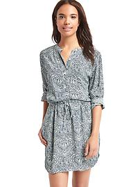 Print popover shirtdress