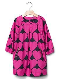 Heart zip dress
