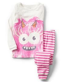 Glow-in-the-dark monster sleep set