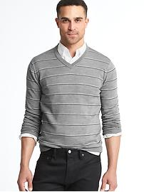 Merino wool stripe slim fit sweater