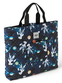 Quilted print tote bag