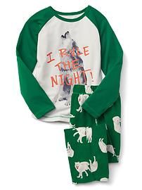 Forest baseball PJ set