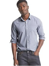 Wrinkle-resistant stripe standard fit shirt