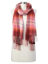 Cozy modal plaid scarf