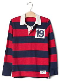 Rugby long sleeve polo
