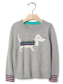Intarsia stripe dog sweater