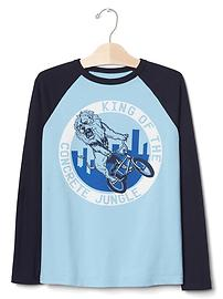 Graphic baseball tee