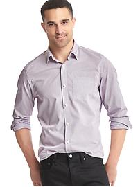 Wrinkle-resistant tattersall standard fit shirt