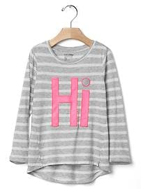 Embroidered hi-to tee
