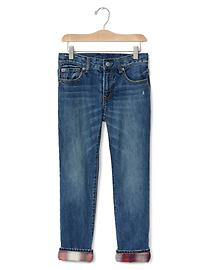 GapKids + Pendleton flannel-lined straight jeans