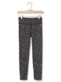 GapFit kids jacquard stripe sport leggings