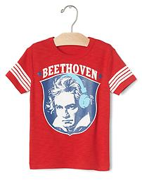 Beethoven athletic graphic tee