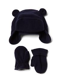 Pro Fleece bear hat and mittens