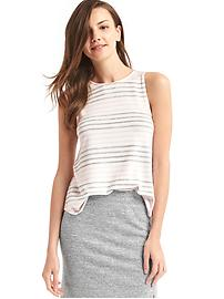 Softspun knit stripe tank