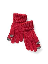 Cable knit tech gloves