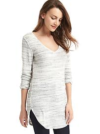 Softspun knit V-neck tunic